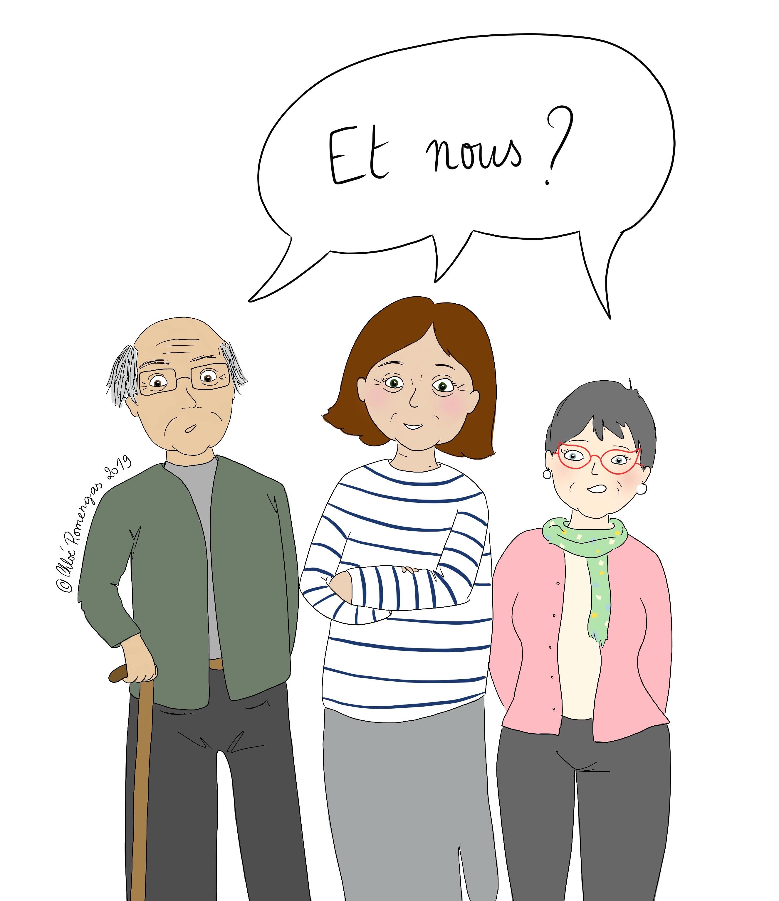 Personnes âgées surdouées qui se demandent pourquoi on ne parle que des enfants précoces et adultes au travail.