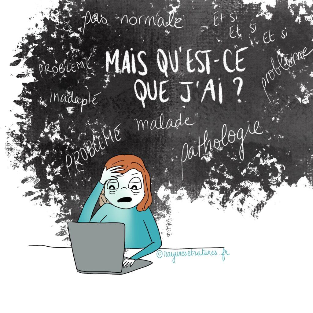 Vortex de l'anxiété - surdoué est-ce une pathologie ?  - illustration